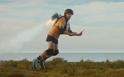 Flight of the Conchords' Rhys Darby dons a jetpack in a new campaign for Xero